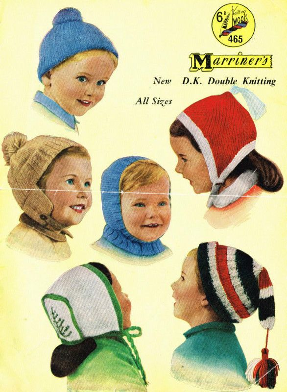 Marriner 465 Baby Hats Bonnets Vintage Knitting Pattern Listing In