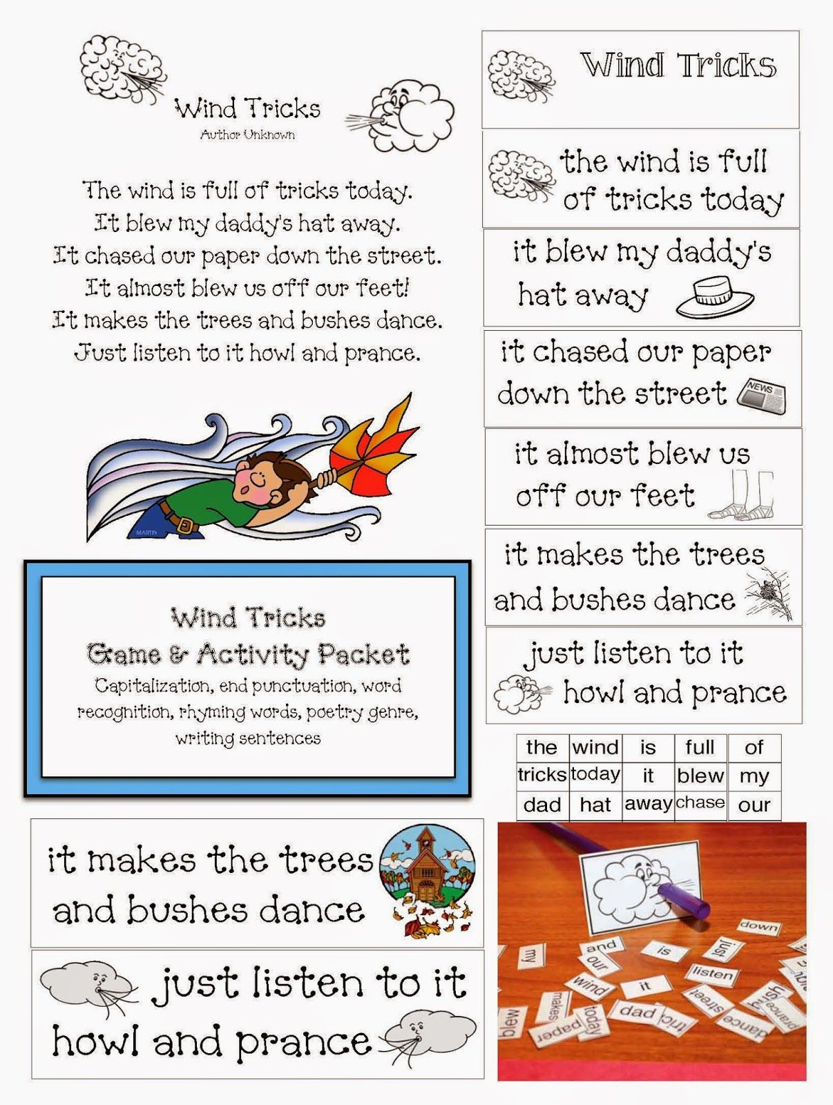 Wind Tricks Poetry Packet