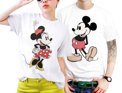e192daa377 Couples Disney Mickey And Minnie Mouse Couples Matching Shirts, Couples T  Shirts, Funny Couple Shirts
