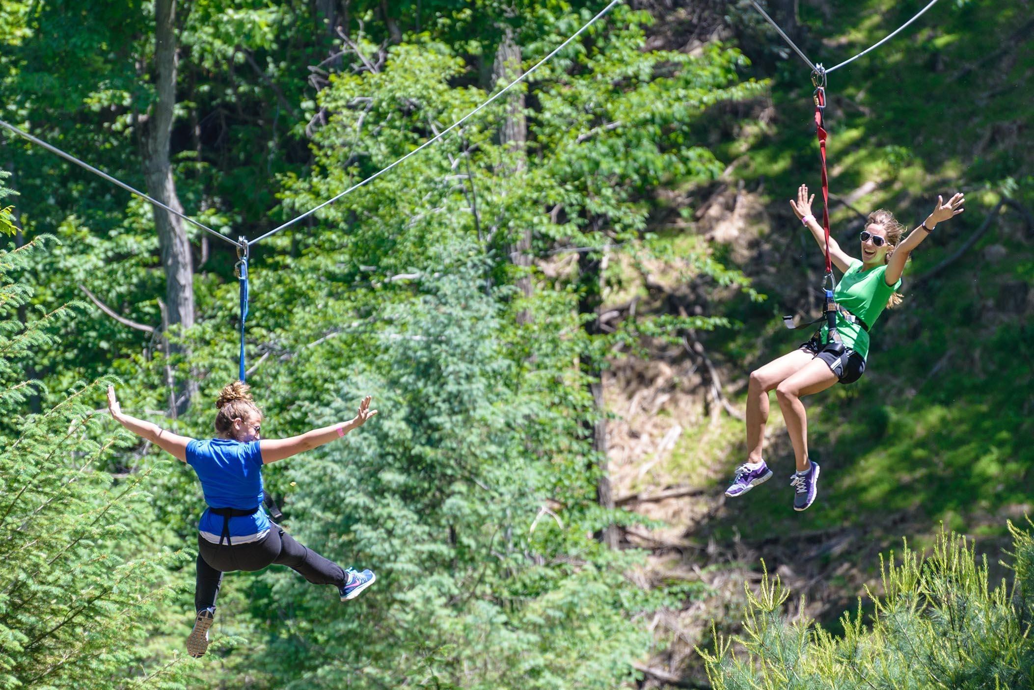 Zipline Poconos Soar Through The Sky On Our 1000 Dual Zip Lines Ziplining Poconos Poconos Pa