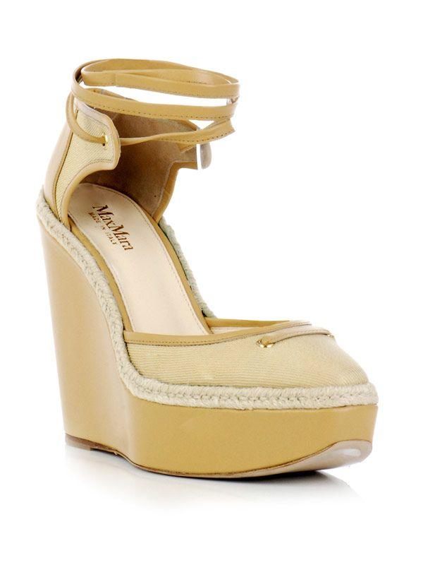 MAX MARA Corfu linen wedges. #maxmara #shoes #wedges