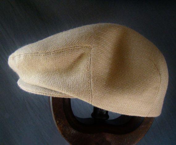 Custom Handmade Boy s Camel Wool Hat - Golf Cap Flat Jeff Cap 6017ce015a7