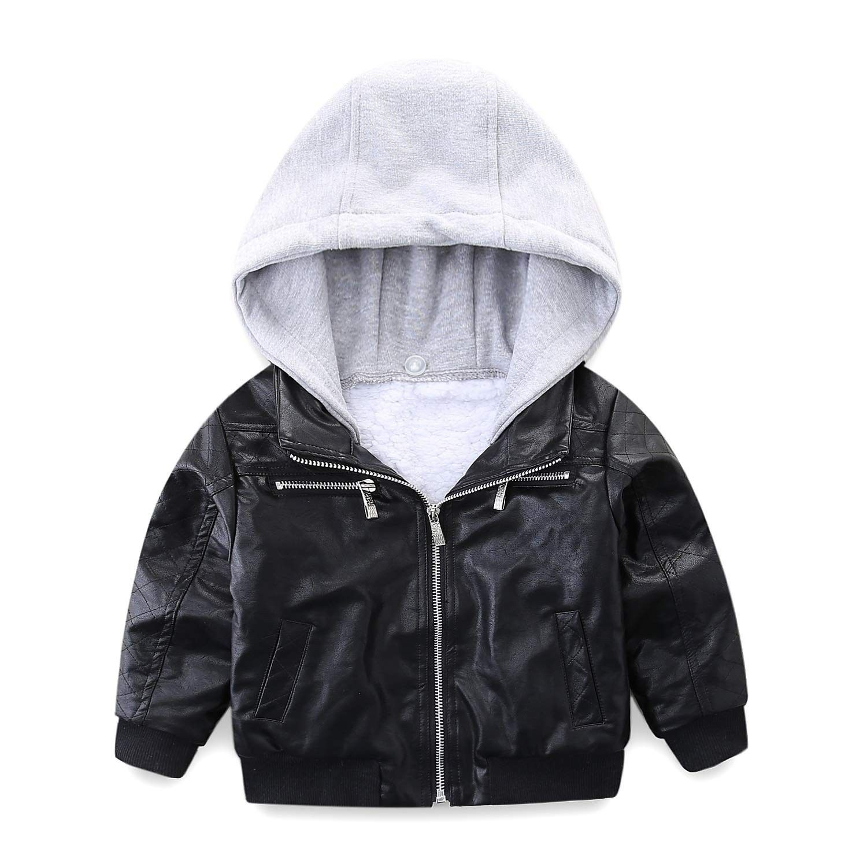 Boys Leather Jacket Fur Lined With Hood Black Cs12n0j7alj Boys Leather Jacket Leather Jacket With Hood Leather Jacket [ 1500 x 1500 Pixel ]