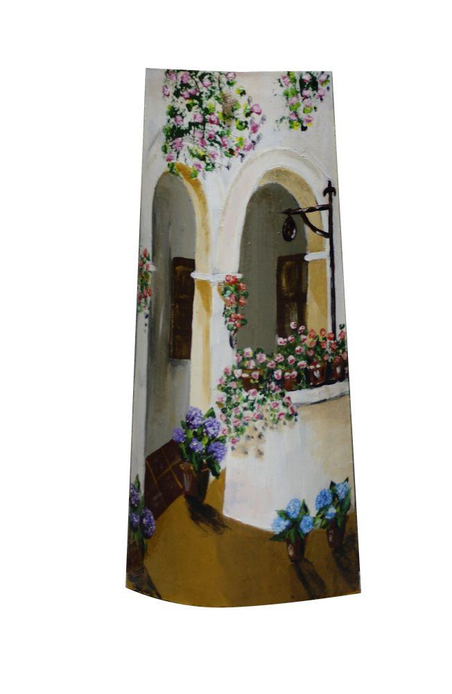 Pozo teja pintada tejas pintadas pintura em telhas telhas de barro y arte em cer mica Pintar tejas de barro