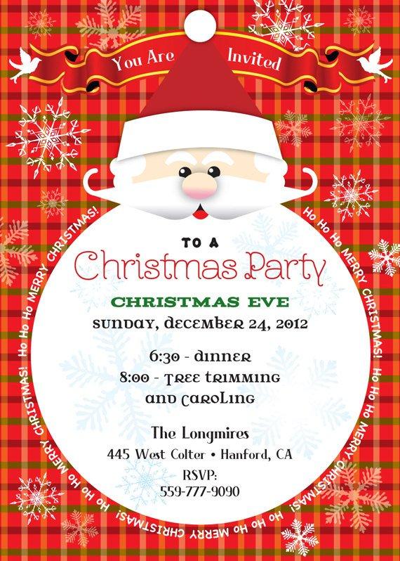Santa Claus Christmas Party Invitation Christmas Party