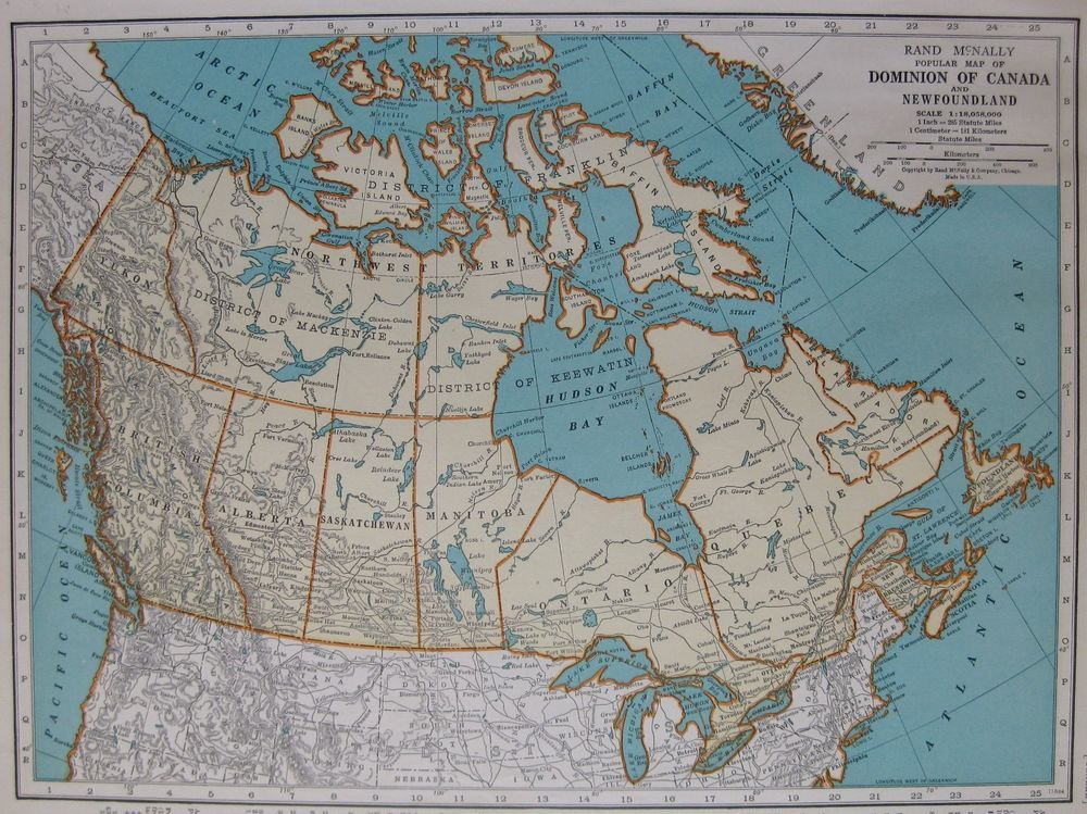 Vintage map of canada beautiful antique 1930s canada map 3417 1937 vintage map of canada beautiful antique 1930s canada map 3417 gumiabroncs Image collections