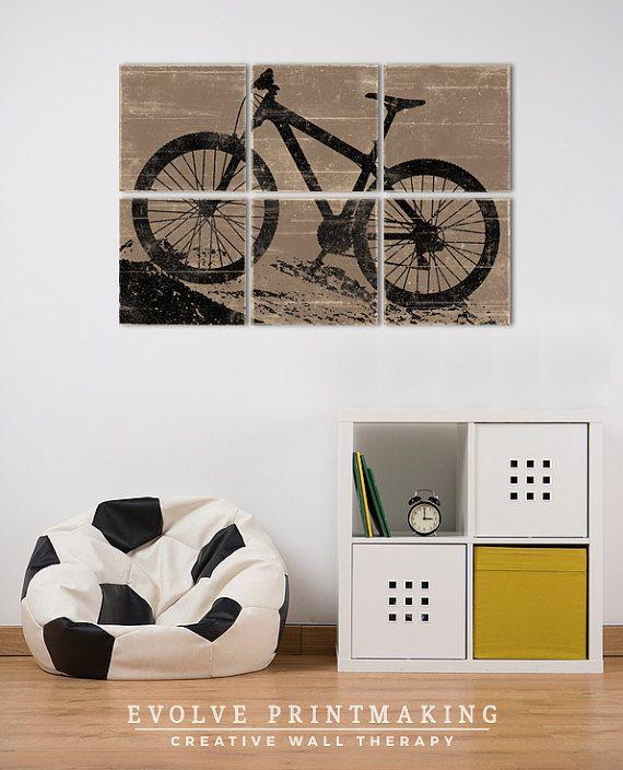 Kids Room Decor Large Mountain Bike Print Ot Evolveprintmaking