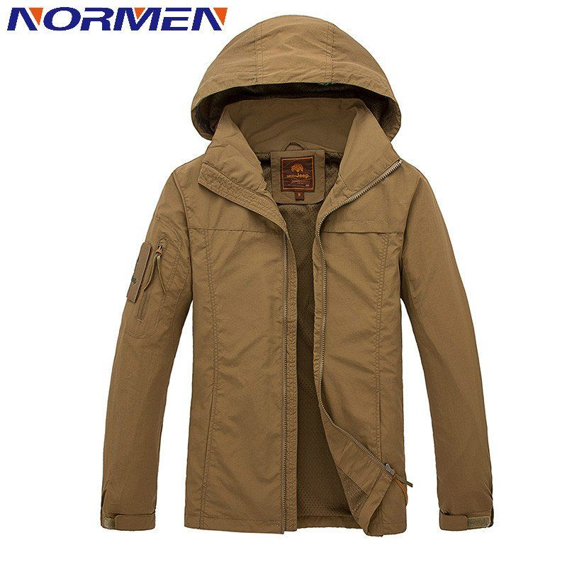 NORMEN Brand Clothing Men's Casual Jacket Hooded Waterproof ...