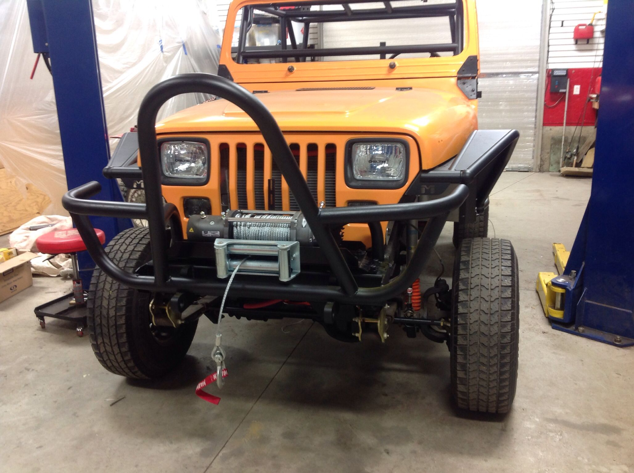 Finished bumper with images outdoor power equipment