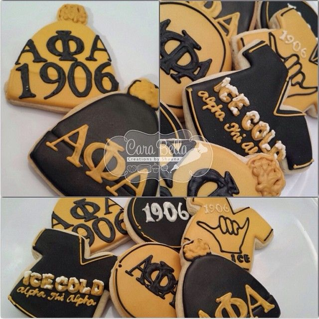 Alpha Phi Alpha Cookies With Images Alpha Fraternity Alpha