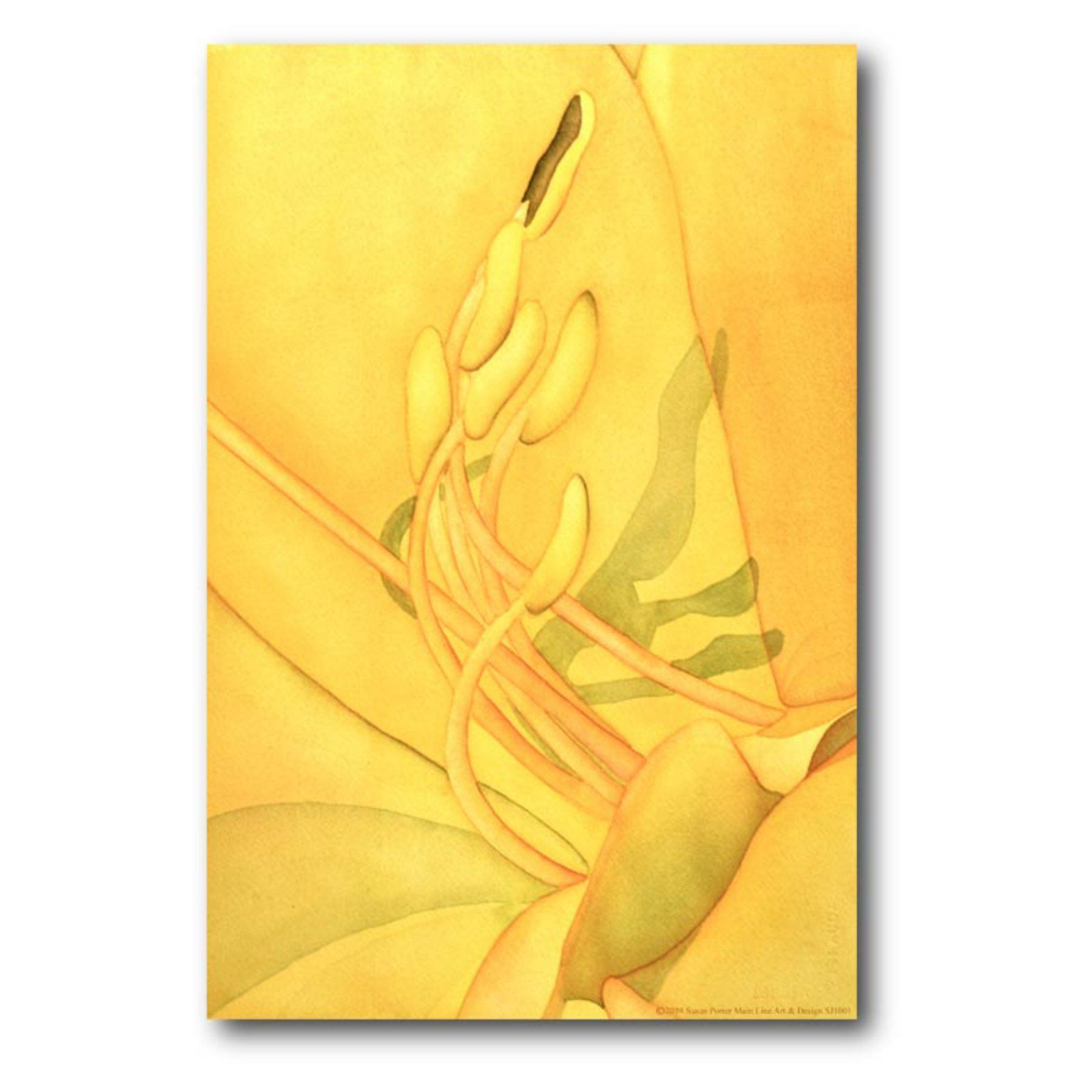 Close - Up Yellow Flower Canvas Wall Art - 16W x 20H in. - WEB-SG239 ...