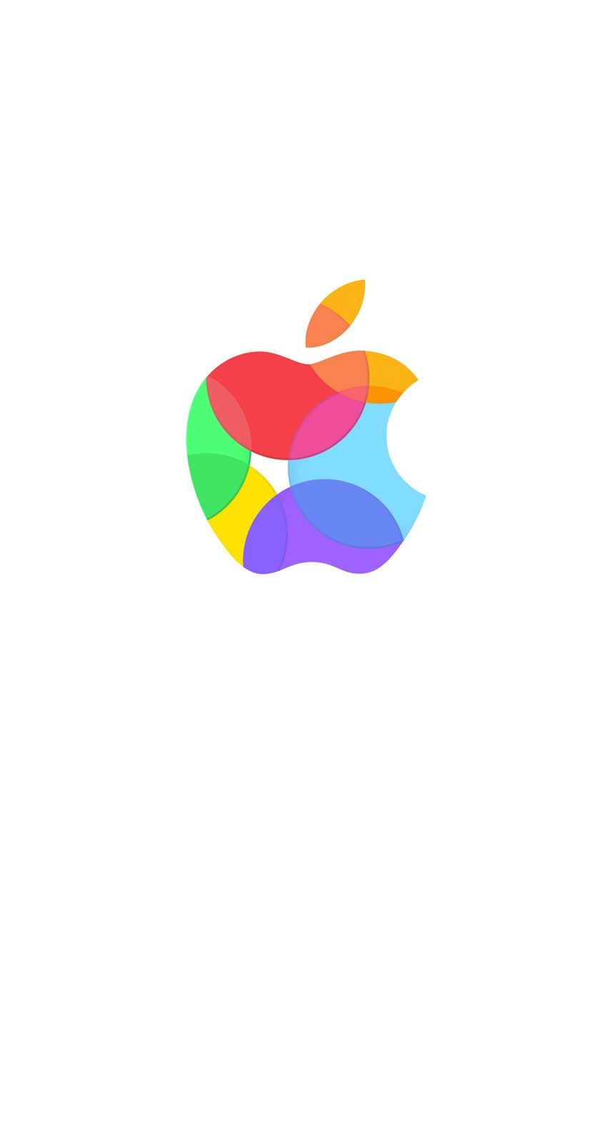 Apple Logo Colorful White Wallpaper Sc Iphone6s Apple Logo