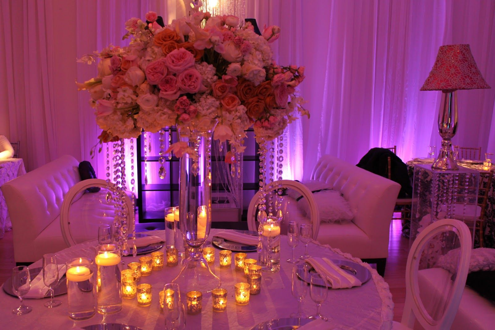 Wedding decorations red  Purple wedding table decor  Centerpieces Wedding centerpieces and