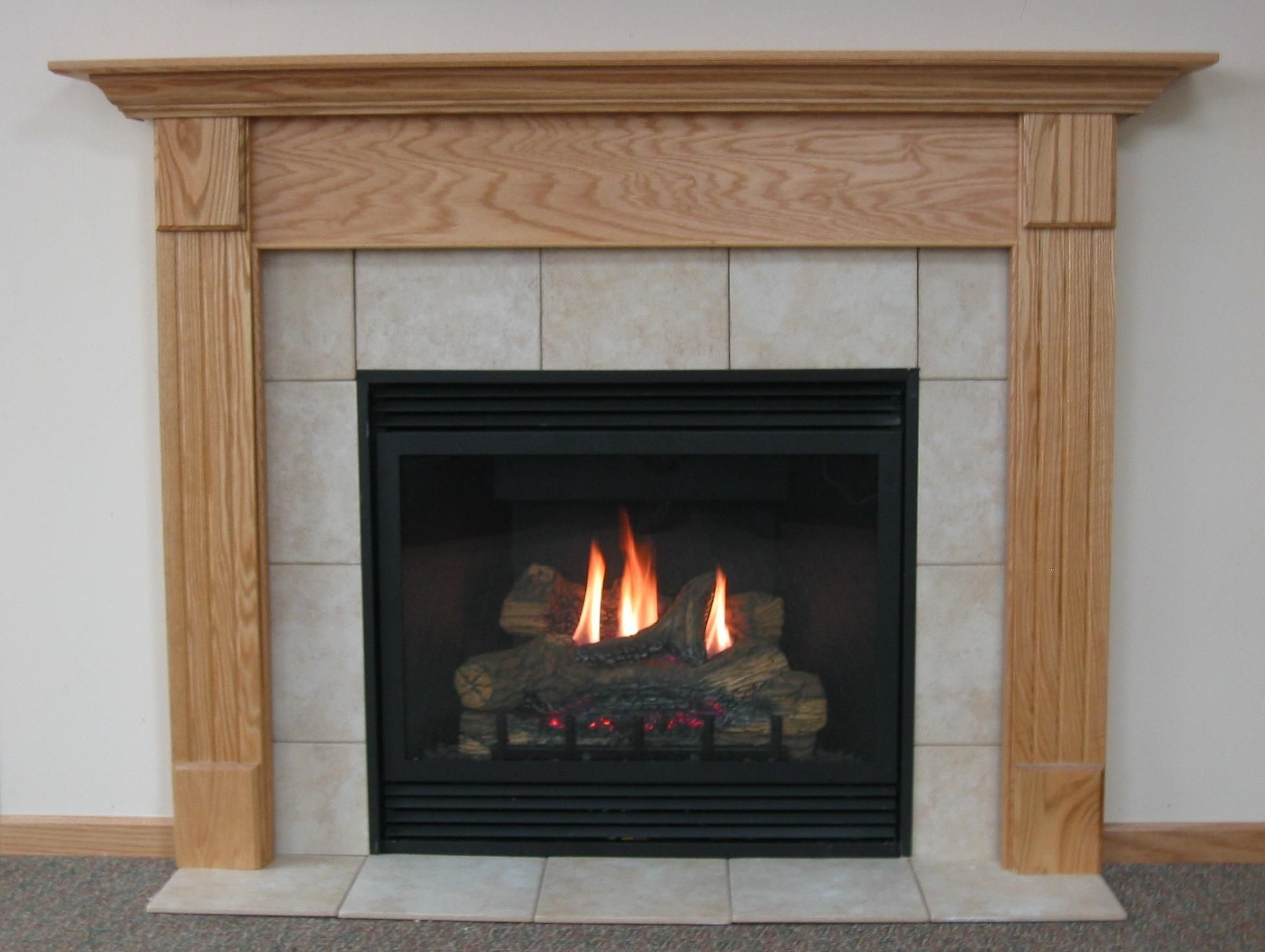Fireplace: Extraordinary Gas Fireplace Made From Wood ...
