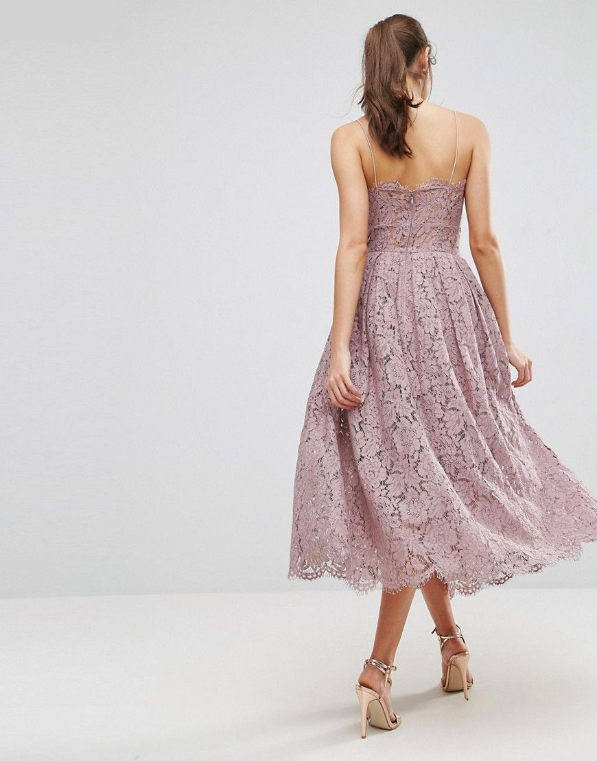 55a391575d Asos Contrast Lace Cami Midi Prom Dress - Data Dynamic AG