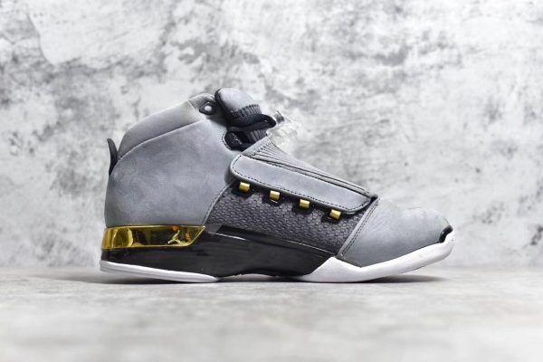 f695da3a0d4354 Air Jordan 17 Retro Trophy Room Cool Grey Metallic Gold Black AH7963-023-1
