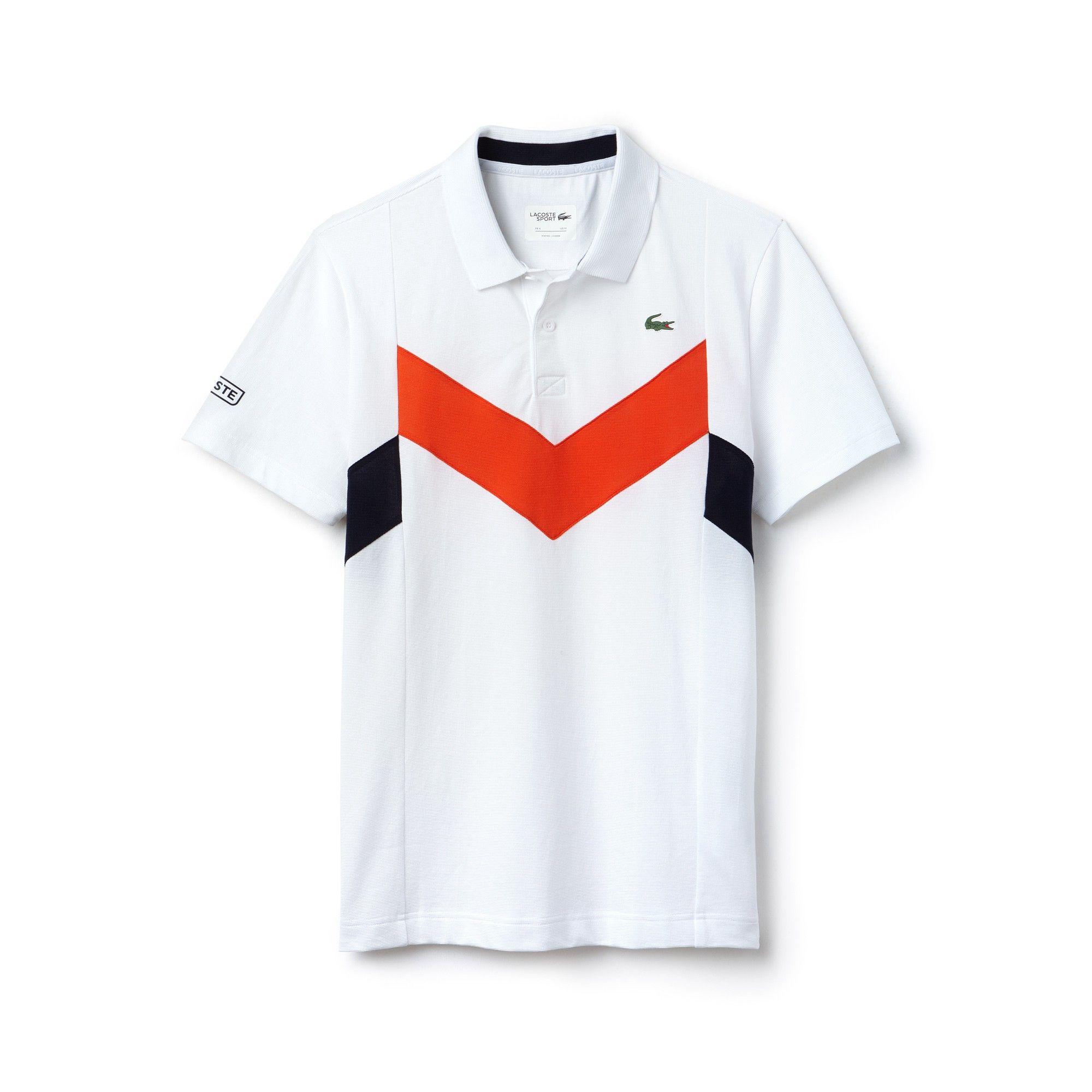 974fc9937ec4 Lacoste Men s Sport Tennis Ultra-Lightweight Colorblock Knit Polo -  White Mexico Red-Navy Blu 4XL
