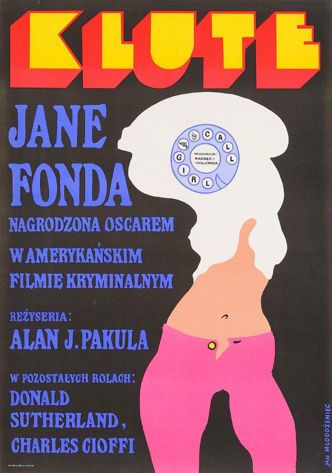 KLUTE (Dir. Alan J. Pakula, 1971) Polish poster
