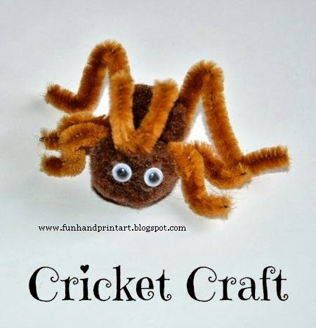 Cricket craft for kids arts crafts summer 2015 for The cricket arts and crafts