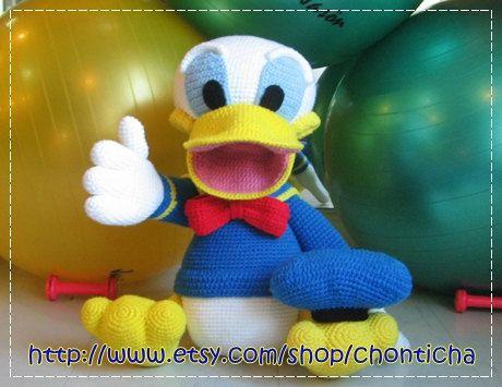 Giant Donald Duck 30 Inches Pdf Amigurumi Crochet Pattern