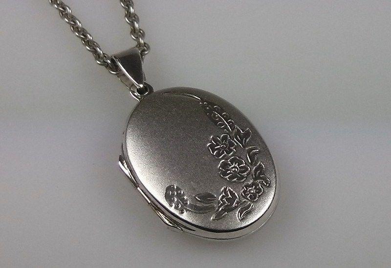 Vintage 925 / 835 Silber Medaillon und Kette