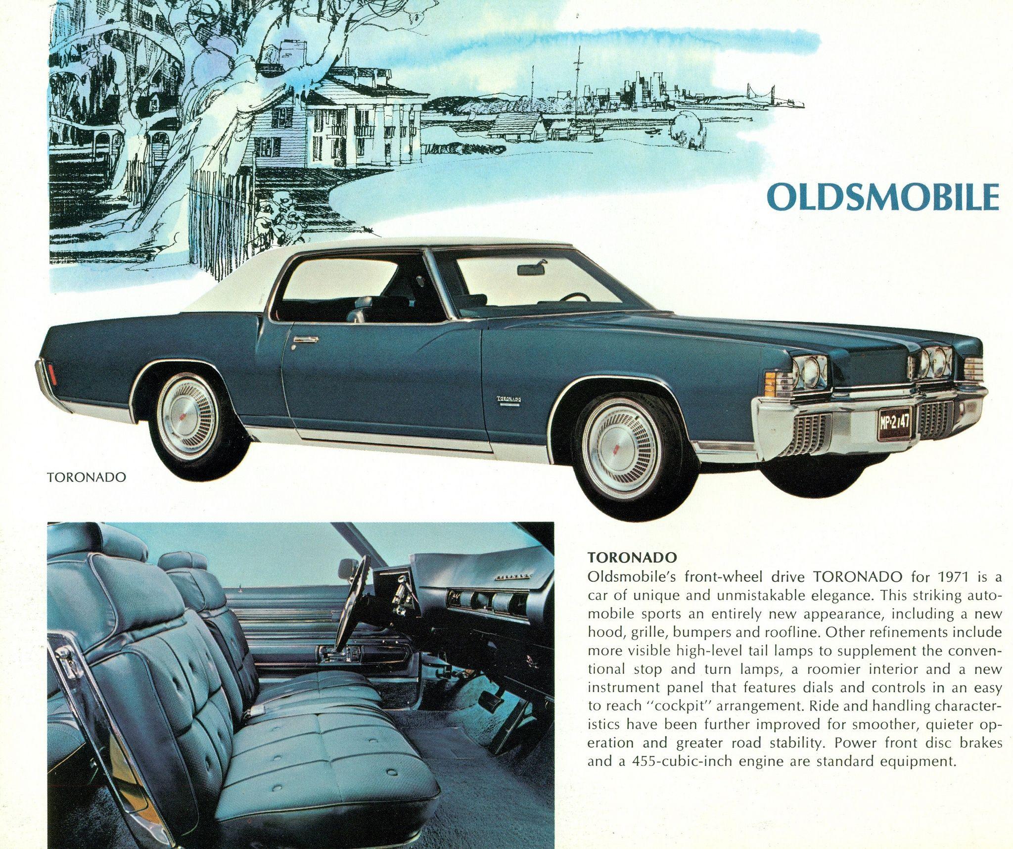 1971 Oldsmobile Toronado Oldsmobile Toronado Oldsmobile Automobile Advertising