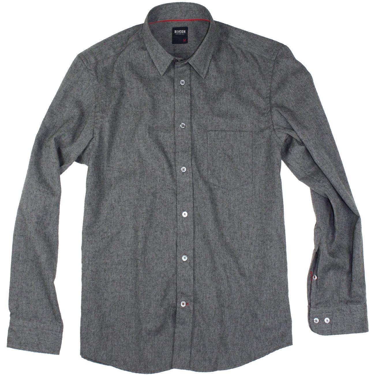 Flannel under shirt  Charcoal Cotton Flannel Shirt by BENSON  Flannel shirts Flannels