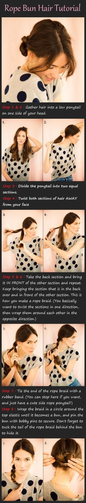 Rope Bun Hair Tutorial | Beauty Tutorials by imad karrari