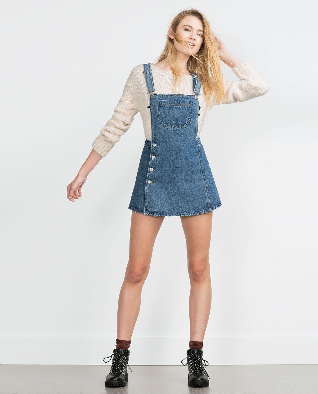 salida para la venta nueva apariencia calidad superior DENIM DUNGAREES-Dresses-TRF | ZARA United States ...