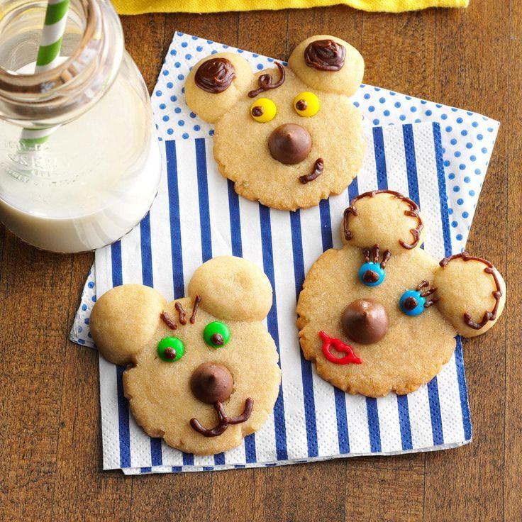 Beary Cute Cookies Recipe Cute cookies, Bake sale