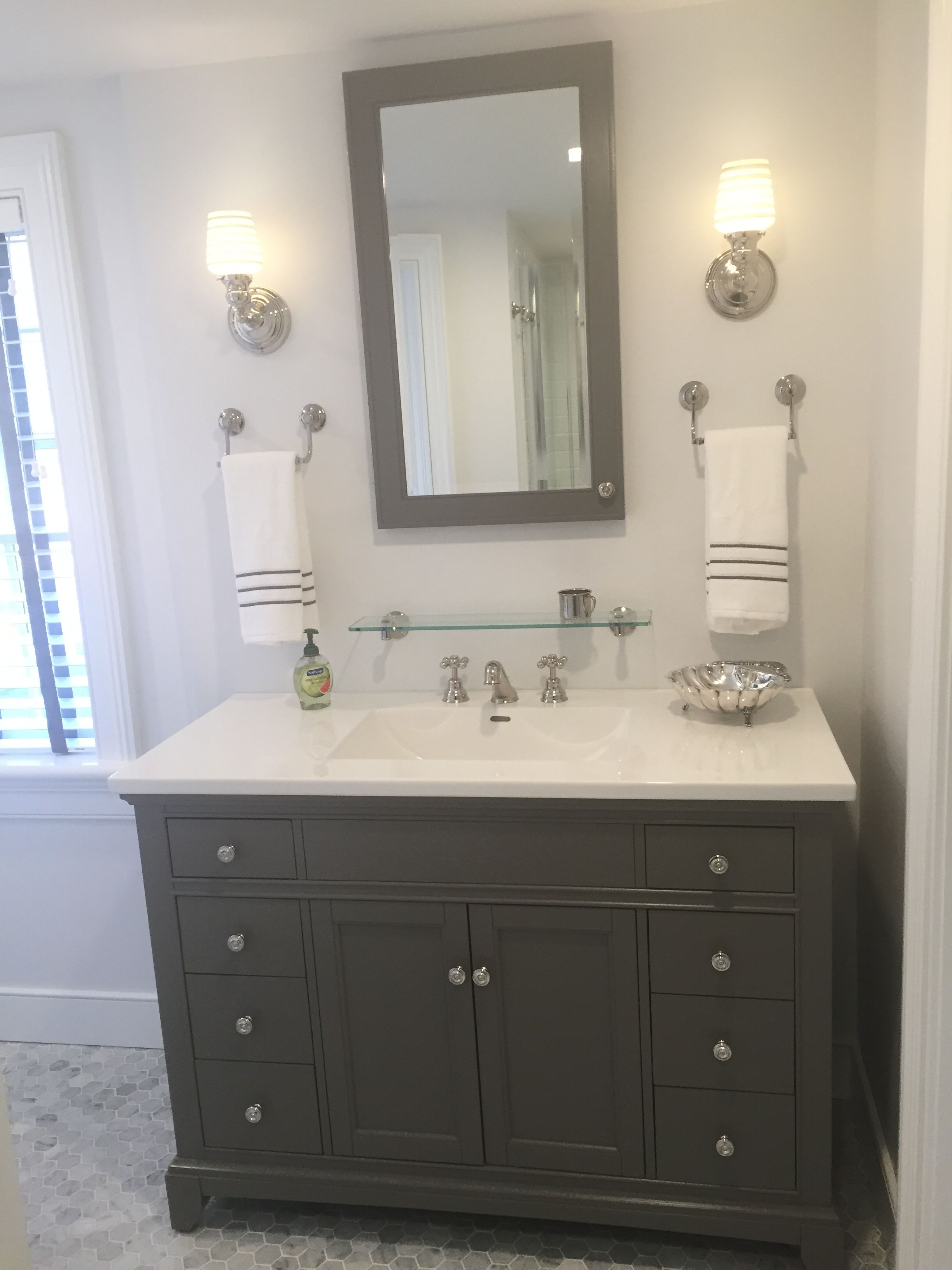 Gray and white bathroom marble carrera hexagon tile floor rohl gray and white bathroom marble carrera hexagon tile floor rohl bath fixtures in polished dailygadgetfo Image collections