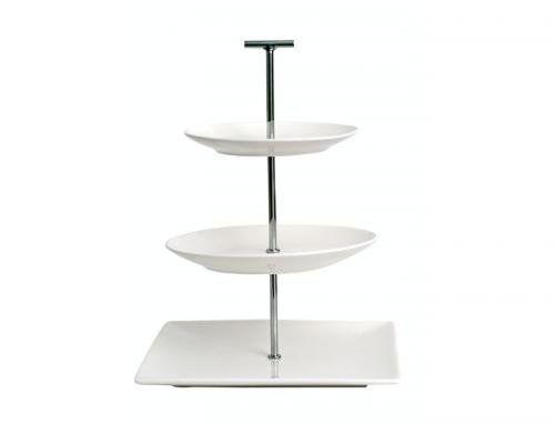 Modern White Chrome 3 Tier Cake Stand Square Round Barista Salt Pepper Design Co Uk Kitchen Home