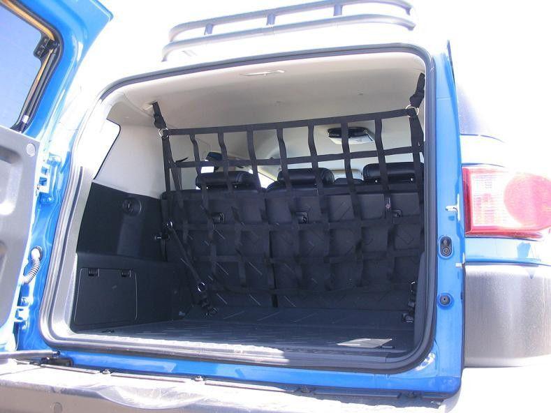 2007 Newer Toyota Fj Cruiser Behind Rear 2nd Row Seats Barrier Divider Net Toyota Fj Cruiser Fj Cruiser Fj Cruiser Accessories