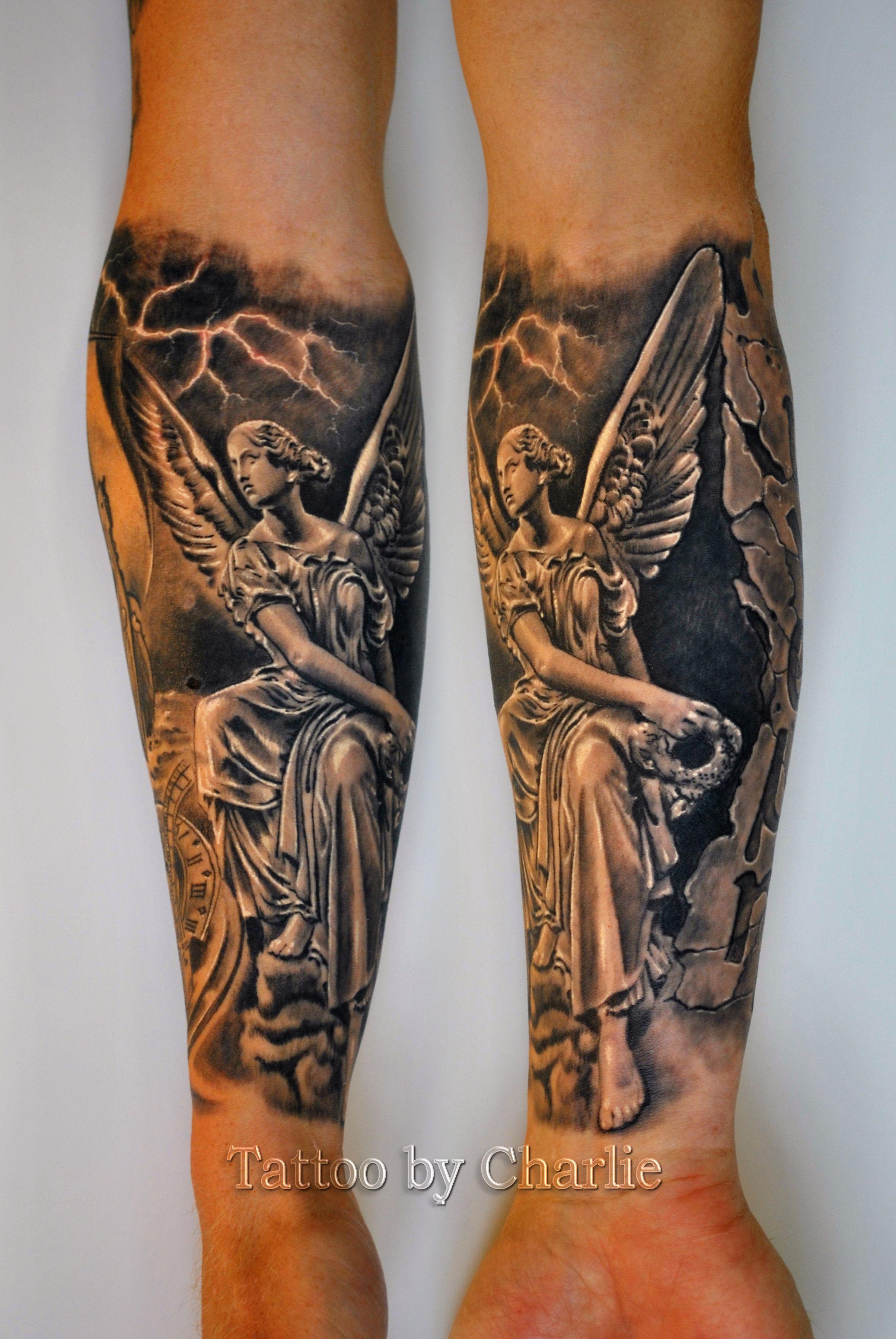 The Goddess Nike Tattoo By Charlie Norway Nike Tattoo Greek Goddess Tattoo Tattoos
