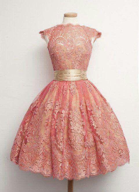 Vestido rosa con lazo de razo | Vestidos Pin Up | Pinterest ...