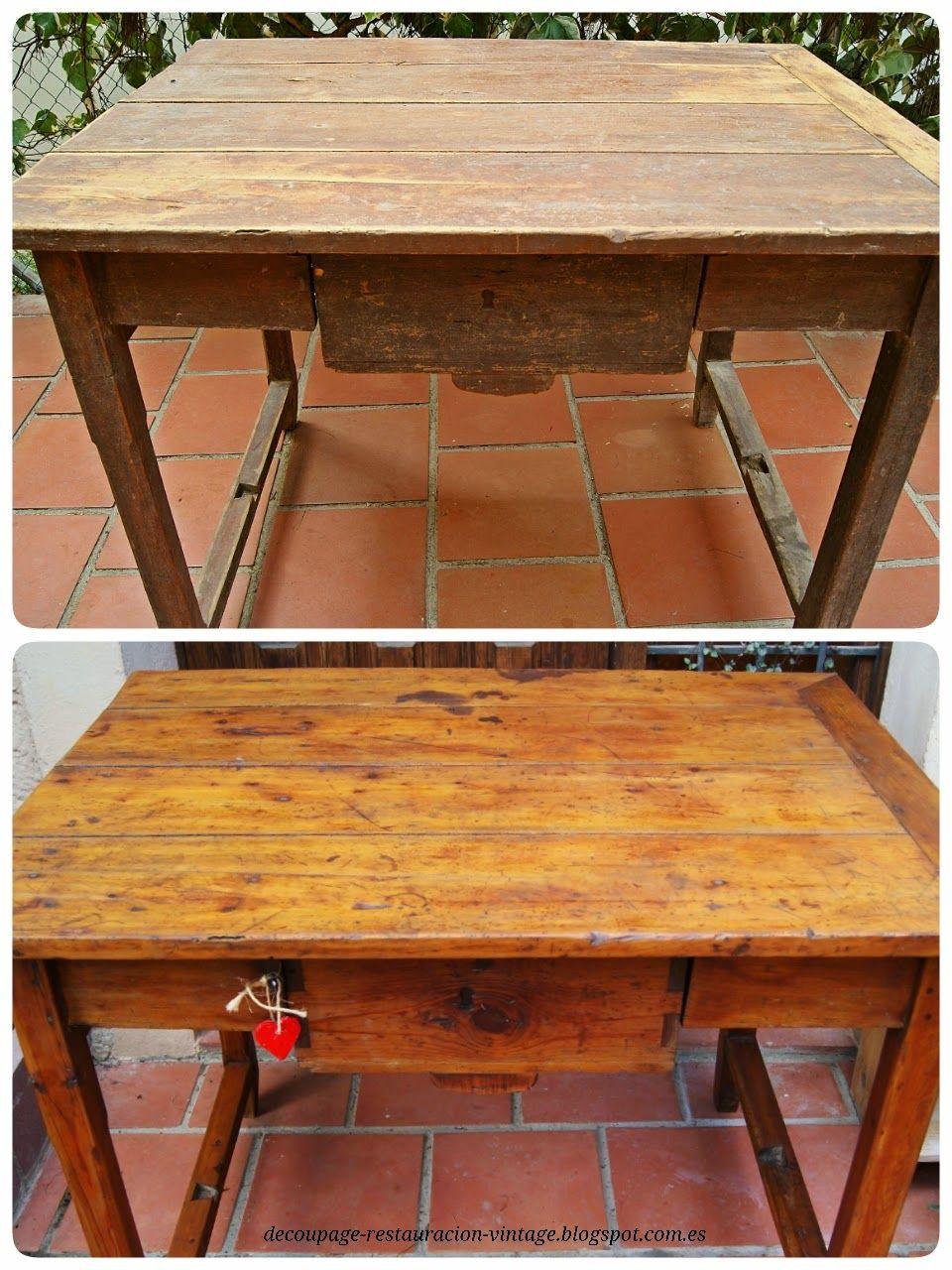 Restauraci n mesa de cocina decoupage transfer y otras - Tecnicas de restauracion de muebles ...
