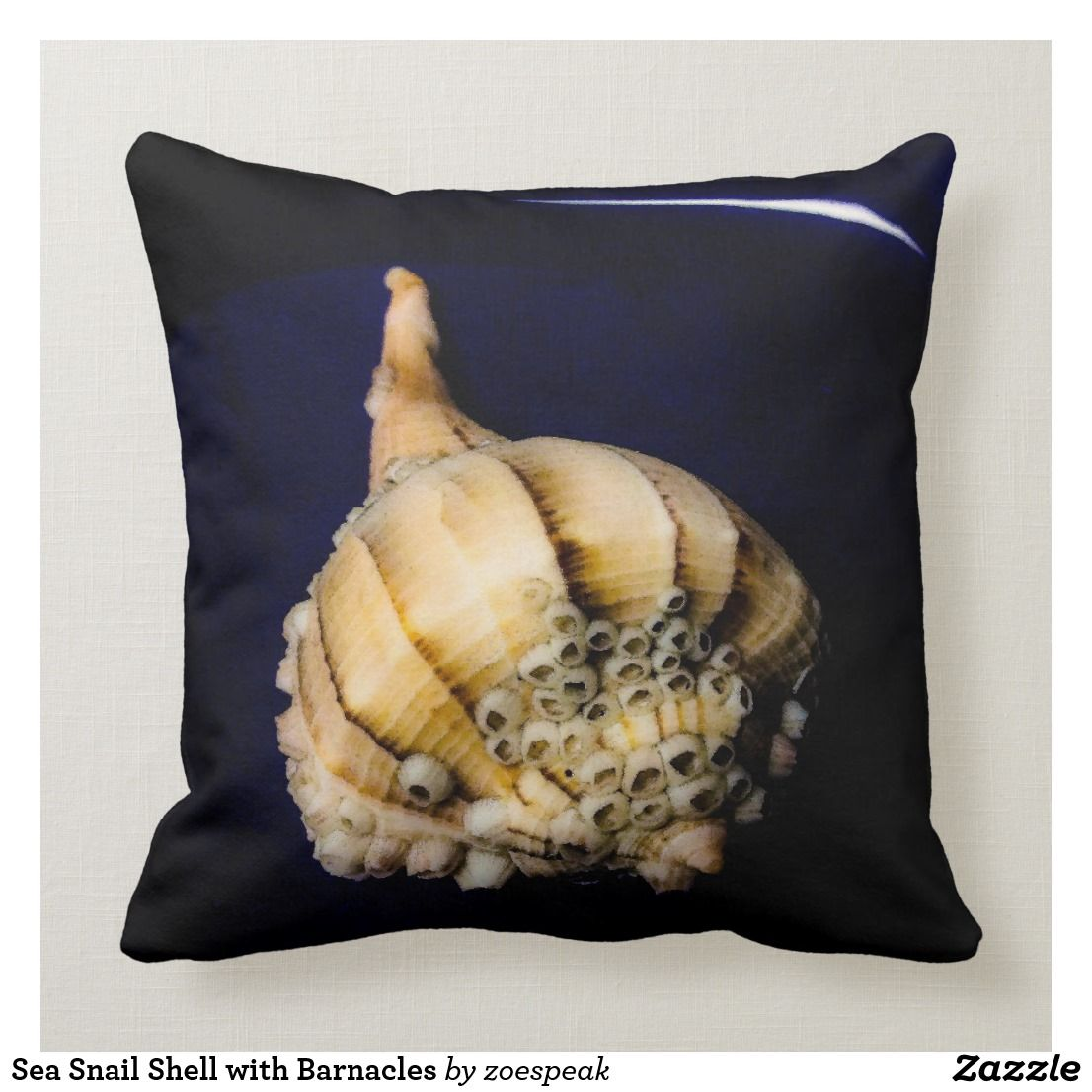 Sea Snail Shell With Barnacles Throw Pillow Zazzle Com Throw Pillows Pillows Designer Throw Pillows