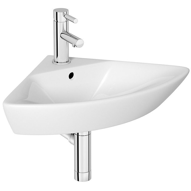 Cooke Lewis Lanzo Triangle Corner Cloakroom Basin Cloakroom Basin Corner Toilet Corner Basin
