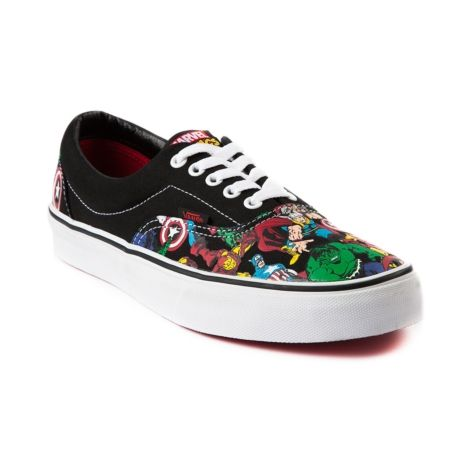 fdbc6fc819 Shop for Vans Era Avengers Skate Shoe in Black White at Journeys Shoes.  Available exclusively at Journeys!