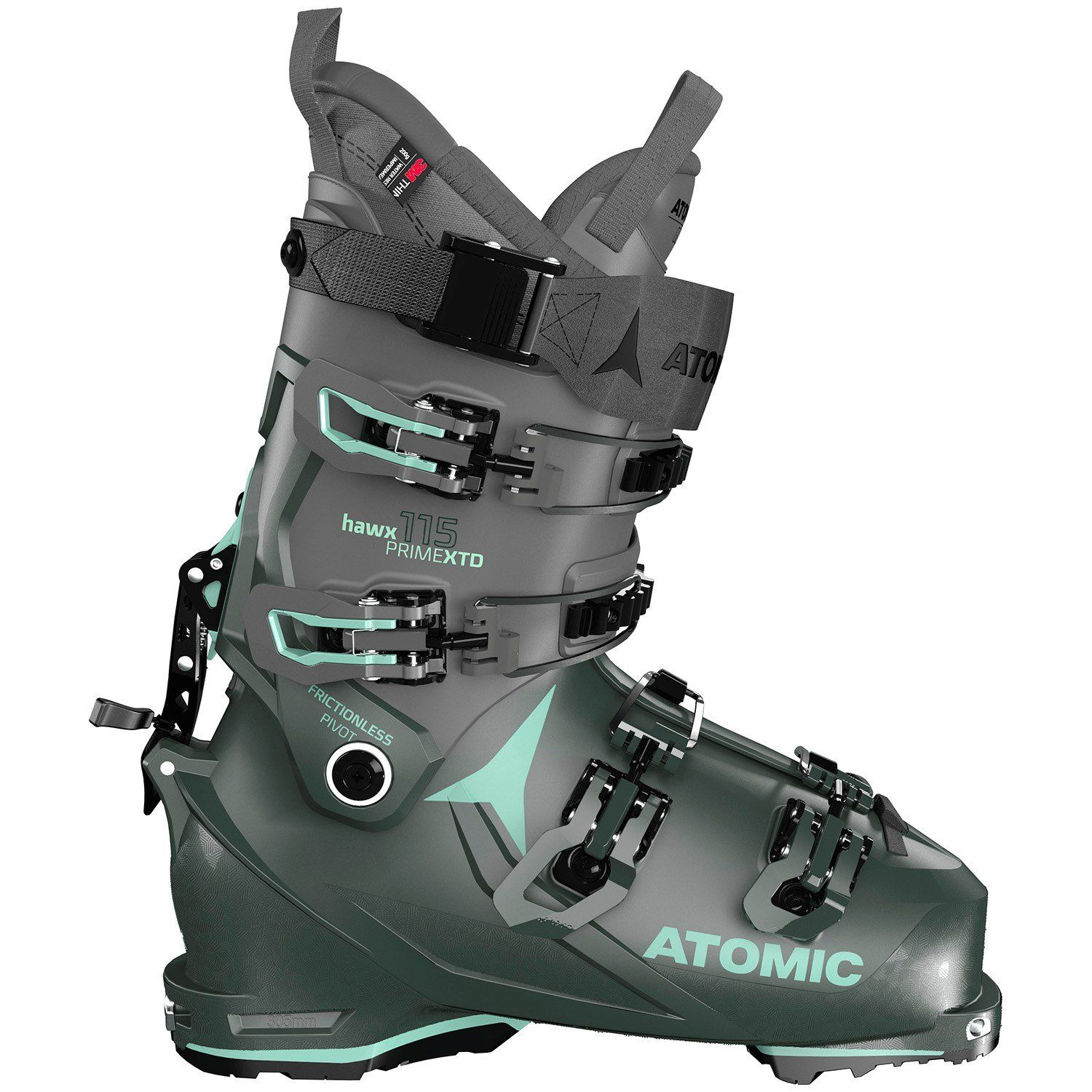 evo.com | Atomic Alpine Touring Ski Boots > The Atomic Hawx Prime XTD 115 W Alpine Touring Ski Boots are just what badass backcountry explorers with average to wide feet have been waiting for. Combining a burly 115 flex with a 100mm last and a relaxed fit over the instep, and an excellent walk mode, they deliver superb performance on both the uphill and the down. Throw in the all new heat-moldable Mimic liners and highly customizable shells, and you have the ultimate do-it-all boot with the perf