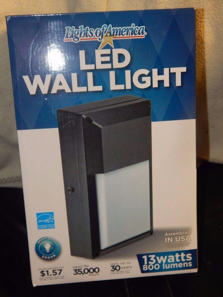 Lights Of America LED Wall Light 9530E BK5 13 Watts 800 Lumens # LightsofAmerica