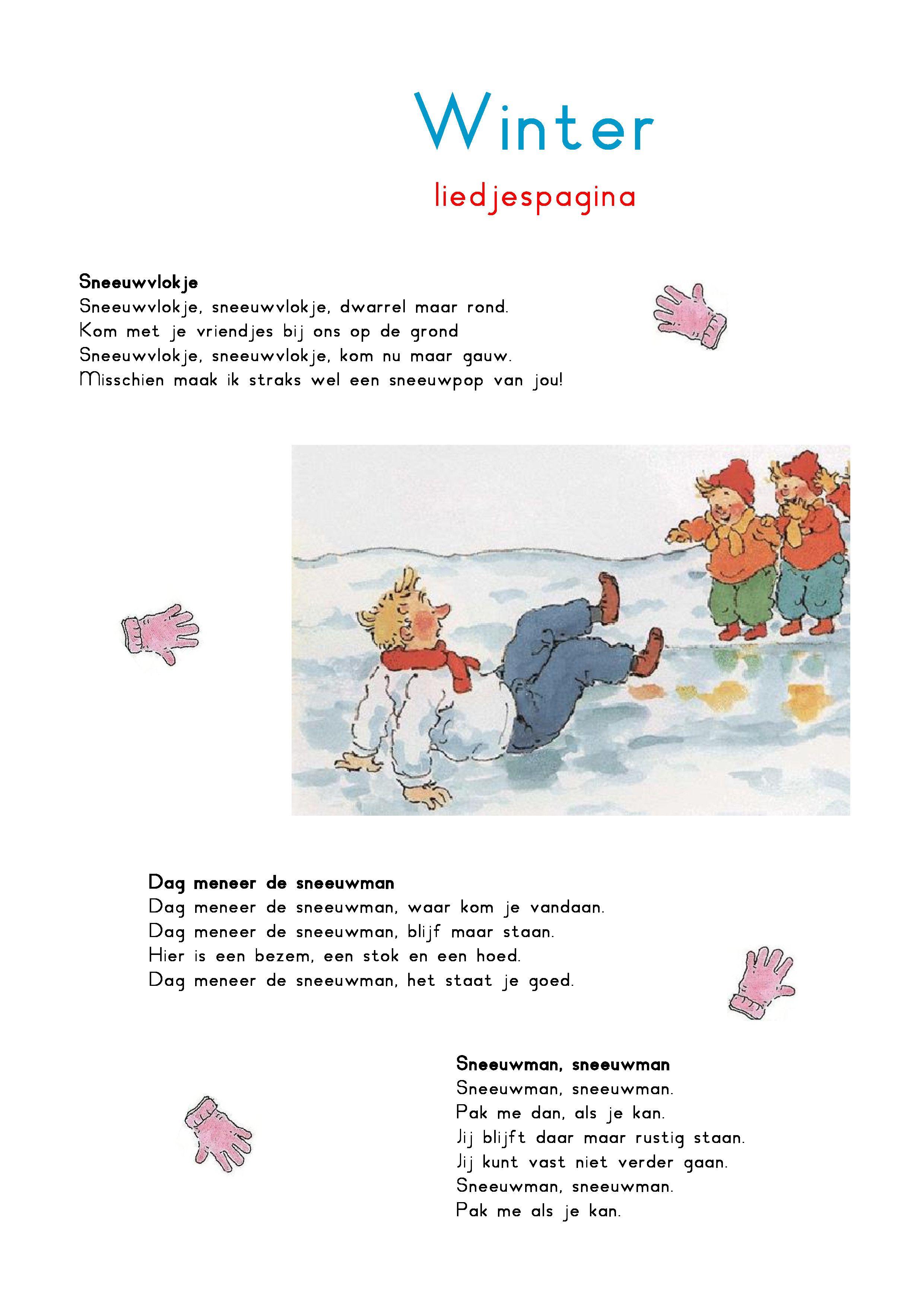 Liedjespagina Winter Projecten Om Te Proberen