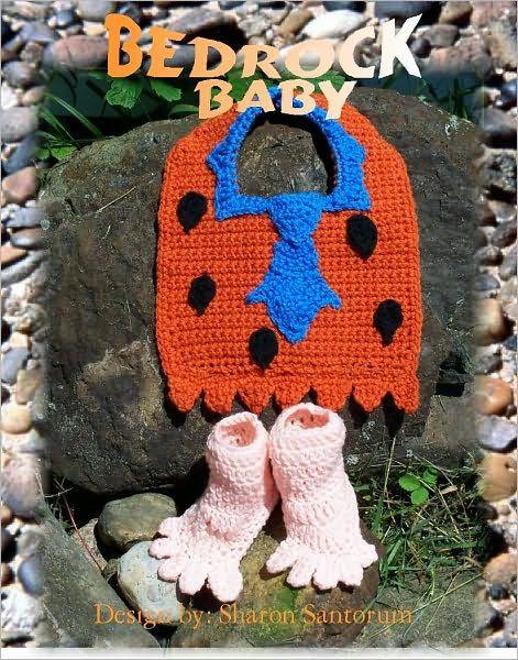 Bedrock Baby Costume Bib and Bootie Crochet Pattern  43a7e3fc3f5