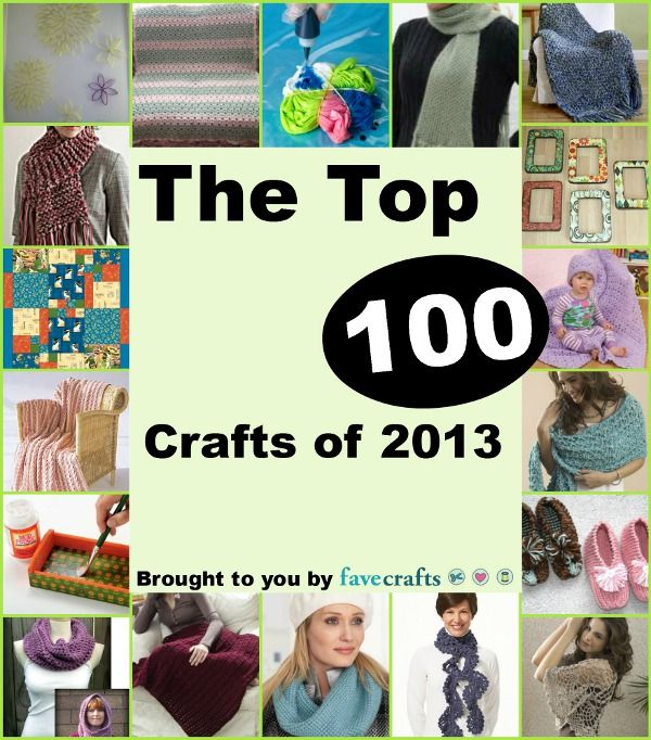 100 Craft Ideas: Easy Crochet Patterns, Easy Christmas Crafts, Tie ...