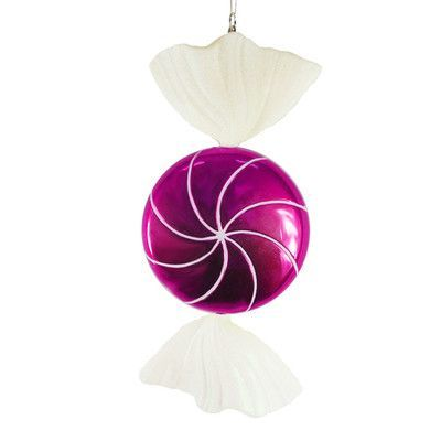 Vickerman Candy Fantasy Wrapped Candy Christmas Ornament Decoration Color: Raspberry