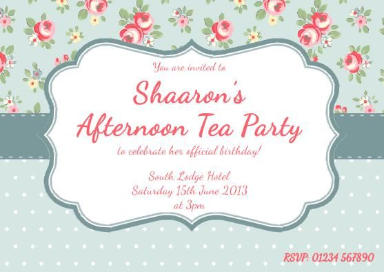 17 best images about mum 80 – Afternoon Tea Party Invitation