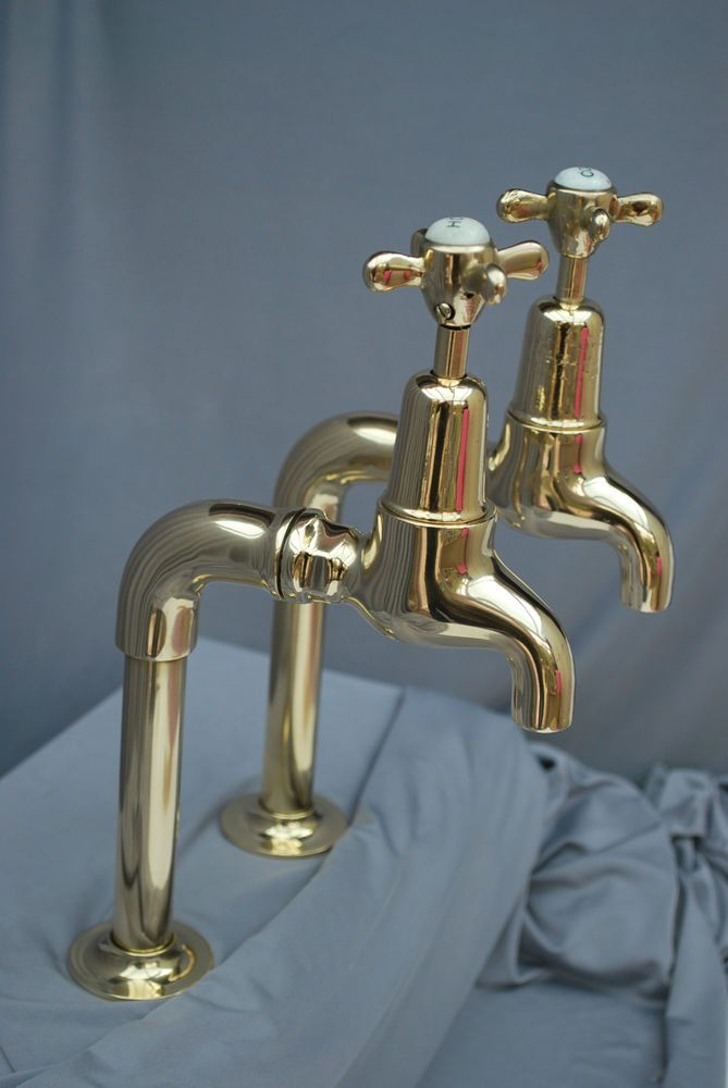 BRASS TALL BIB TAPS IDEA BELFAST KITCHEN SINK TAPS ...
