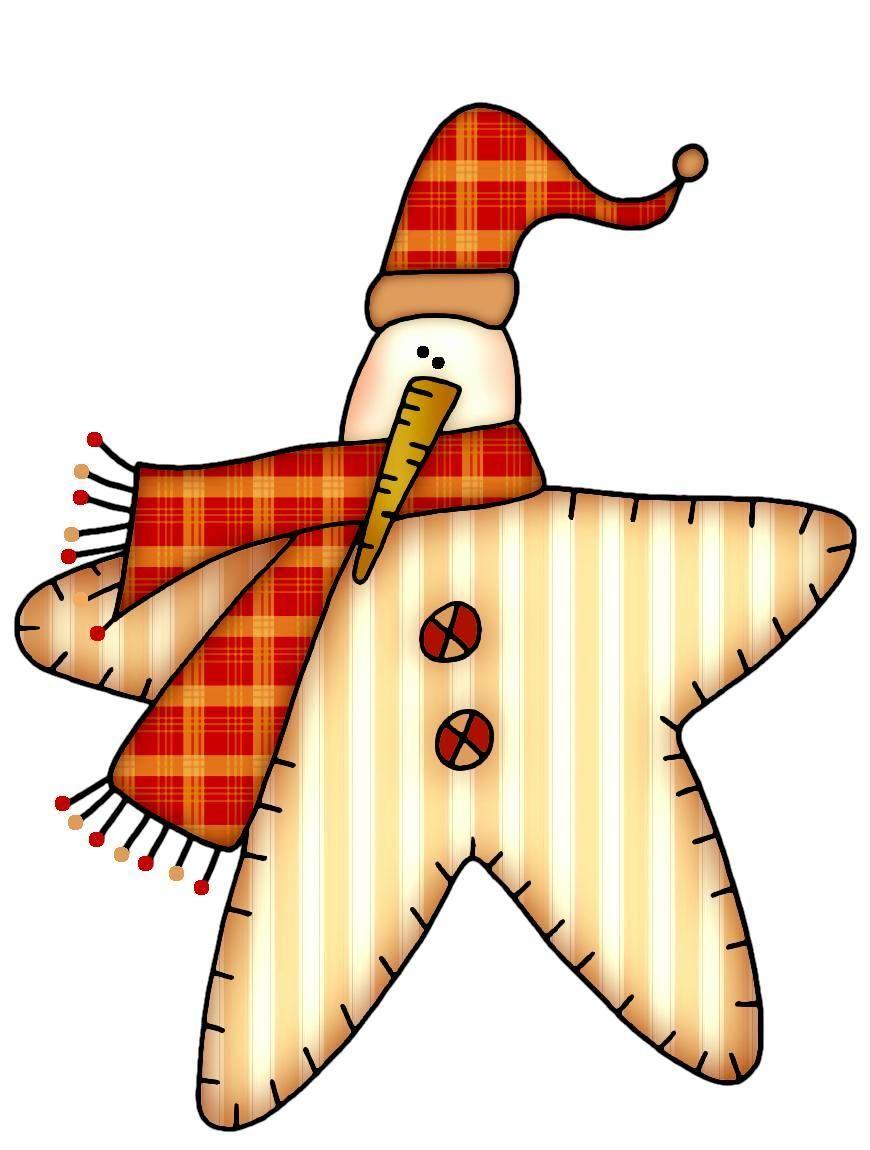 winter snowman star clip art