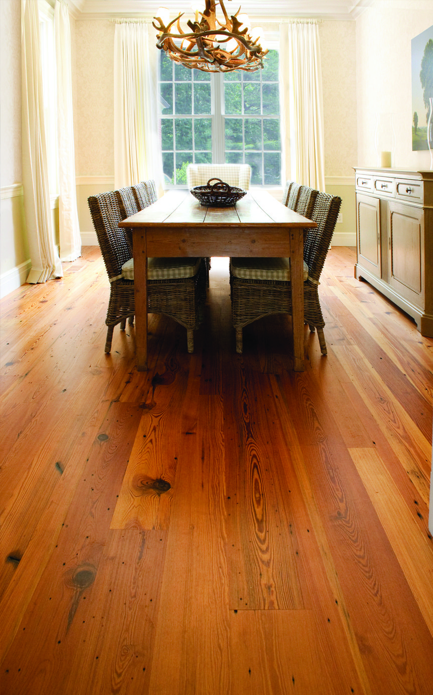 Hermitage Heart Pine Flooring / this would make me want to