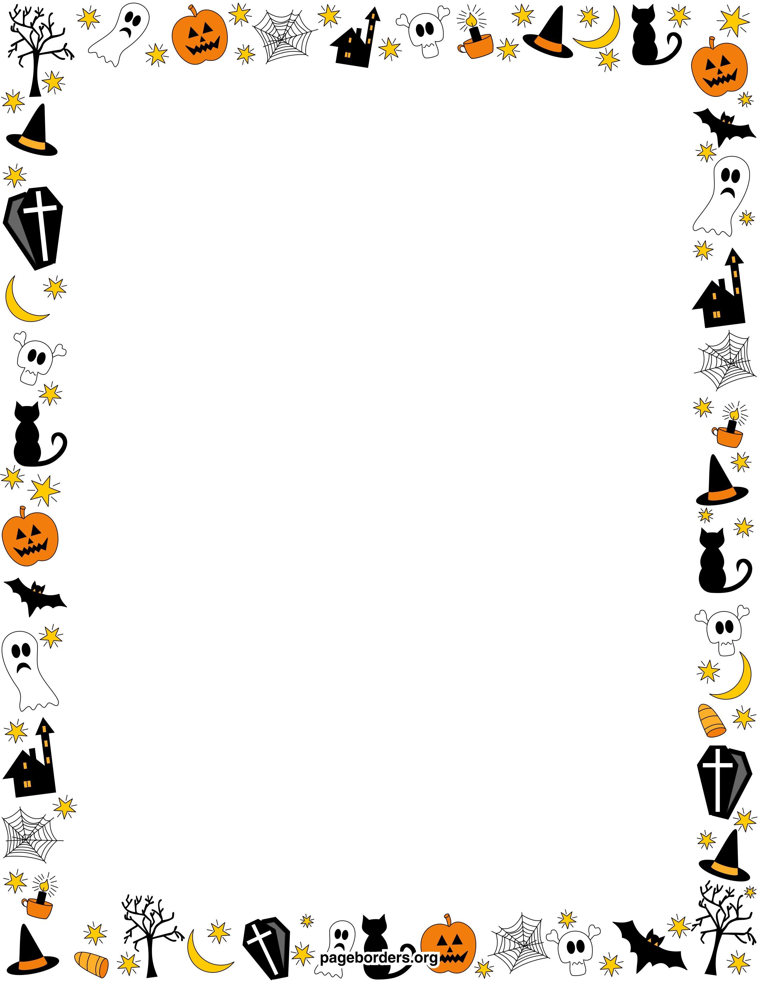 free halloween page borders
